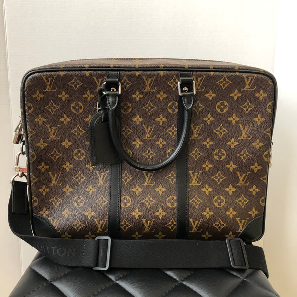LOUIS VUITTON Monogram Macassar Porte-Documents Voyage GM
