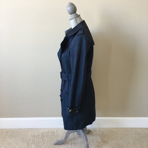 Burberry Blue Trench Coat Size US 8 (fits US 6)