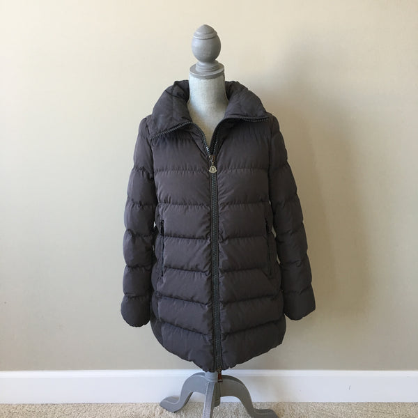 Moncler Grey Petrea Quilted Down Jacket Size 2 (fits US 6-8)