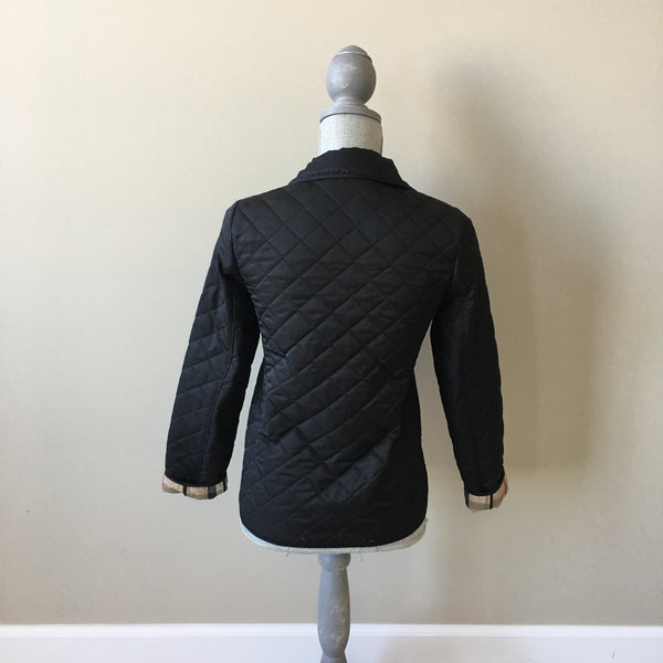 Burberry Children Black Quilted Jacket Size 12Y (Fits Ladies US 0)