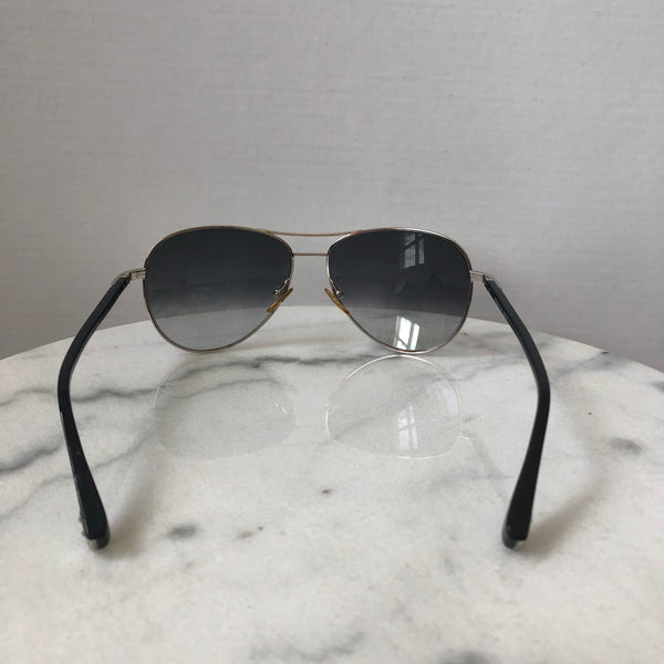 Louis Vuitton Silvertone Metal Frame Monogram Conspiration Pilote Sunglasses