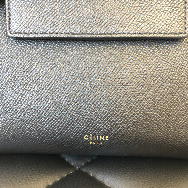 Celine Black Grained Calfskin Nano Belt Crossbody Bag