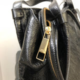 Marc Jacobs Black Crinkled Patent Sport Bag Shopping Tote