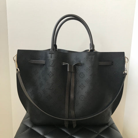 Louis Vuitton Girolata Mahina Noir Shoulder Bag