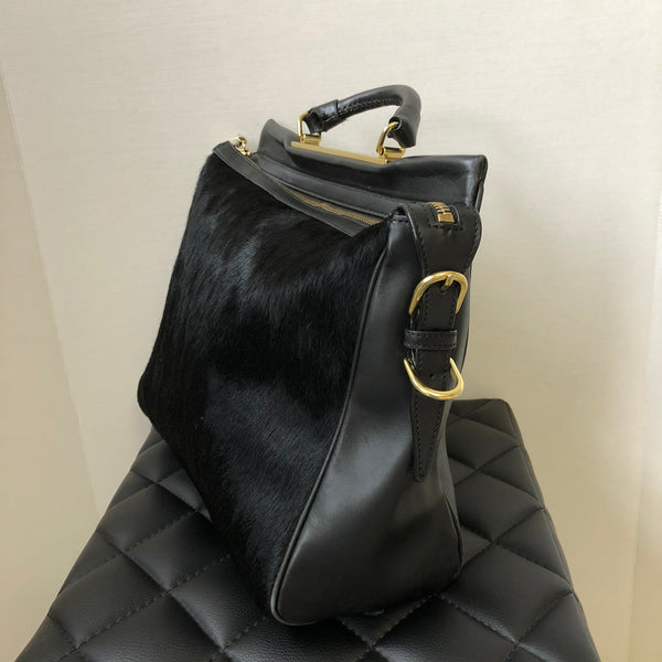 3.1 Phillip Lim Black Ryder Calf Hair Crossbody Bag