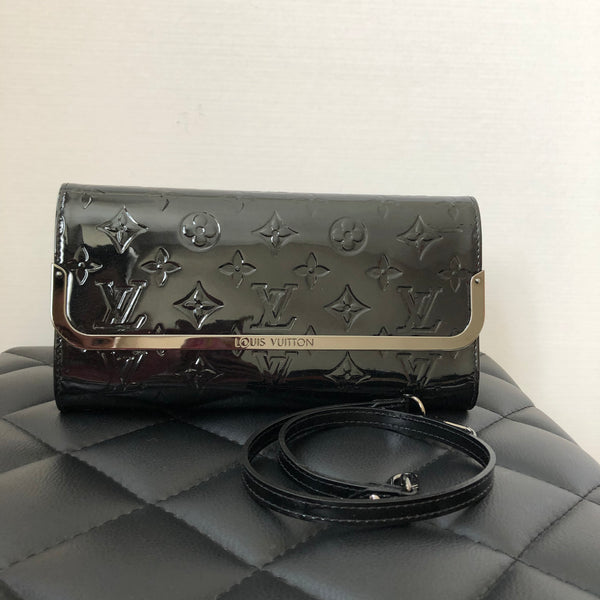 Louis Vuitton Black Rossmore Monogram Vernis MM Clutch/Shoulder Bag