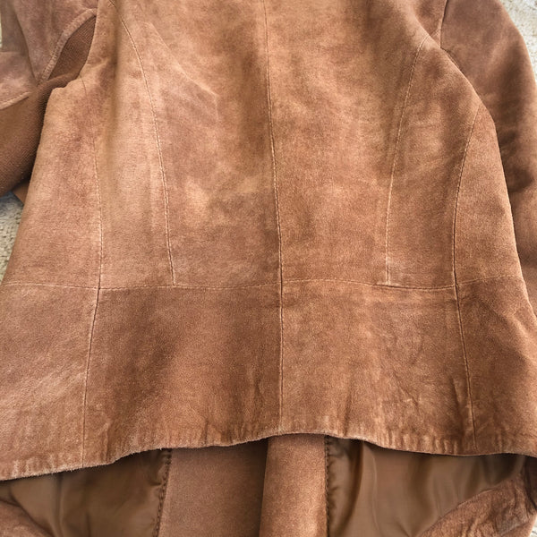 Bod & Christensen Tan Draped Suede jacket Size Small (fits US 2-4)