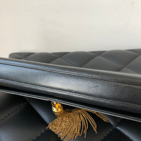 Saint Laurent Black Kate Tassel Clutch
