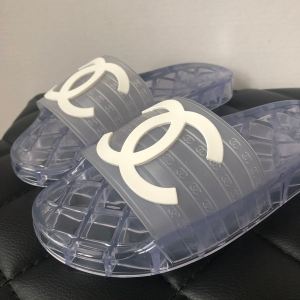 Chanel PVC Transparent Mules Size 38