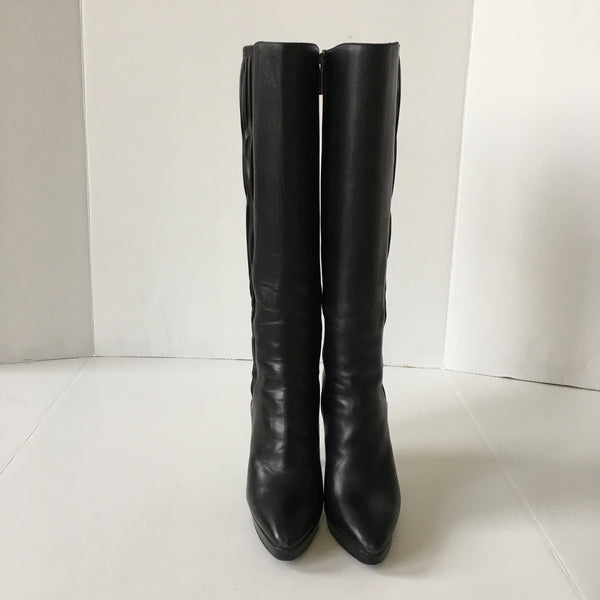 Prada Black Leather Boots Size 38.5