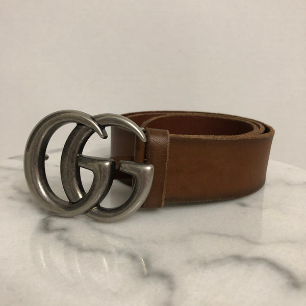 Gucci Brown GG Belt Size 85/34