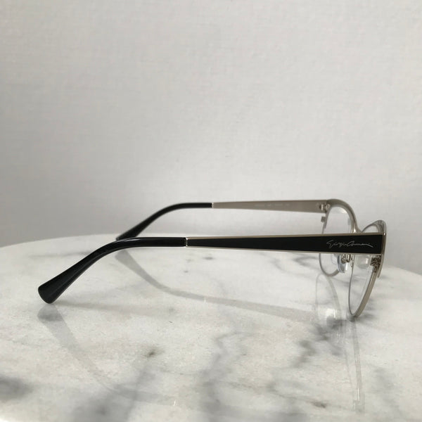 Giorgio Armani Silver/Matte Black Eye Glasses