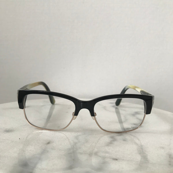 Tom Ford Black/Horn/Gold Eye Glasses