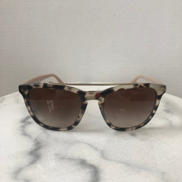 Valentino Beige/Brown Tortoise Sunglasses