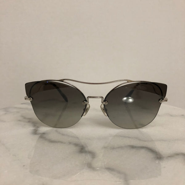 Miu Miu Silver/Grey Mirror Sorbet Evolution Sunglasses