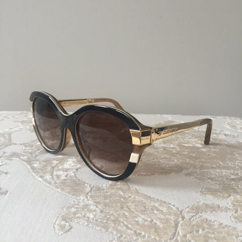 82bdec5bdeb6 Louis Vuitton Brown Gold Petit Soupçon Cat Eye Sunglasses