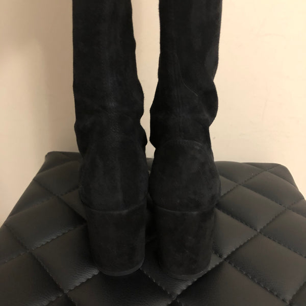 Stuart Weitzman Black Suede Over the Knee Boots Size 5.5