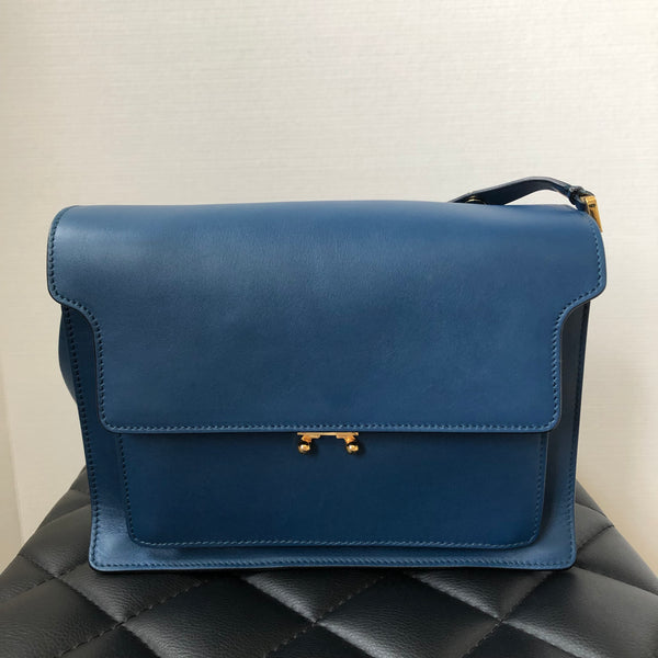 Marni Blue Large Trunk Crossbody/Shoulder Bag