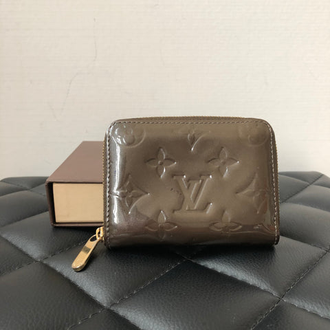 Louis Vuitton Zippy Coin Purse Vernis Vert Bronze