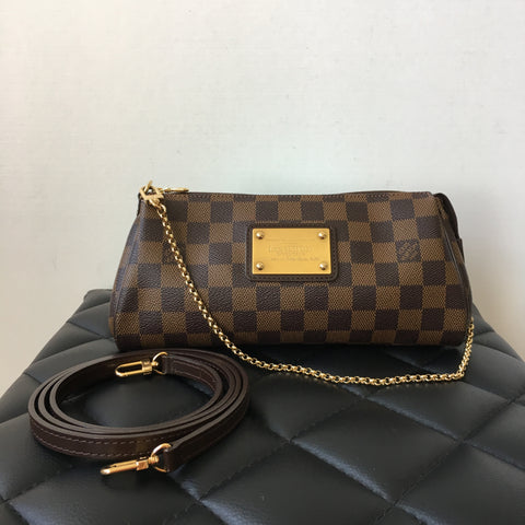 Louis Vuitton Eva Clutch/Crossbody Bag in Damier Ebene