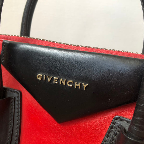 Givenchy Red/Black Medium Antigona Bag