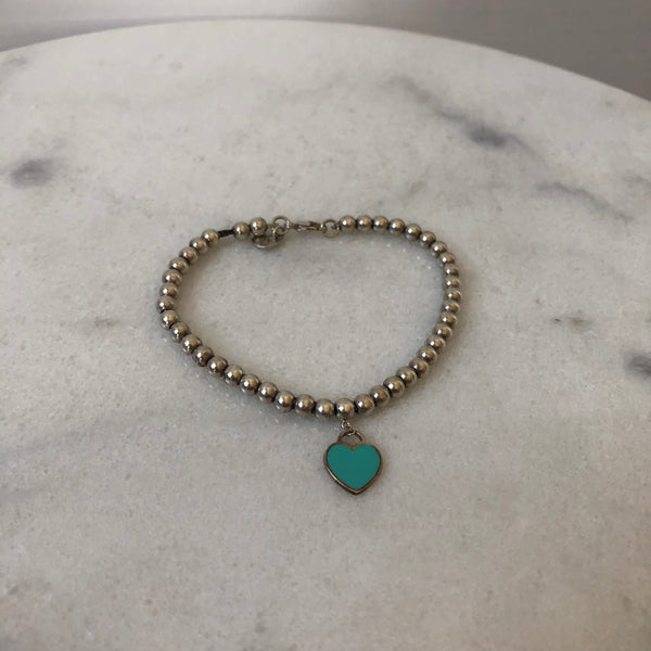 Tiffany Silver Mini Heart Bracelet