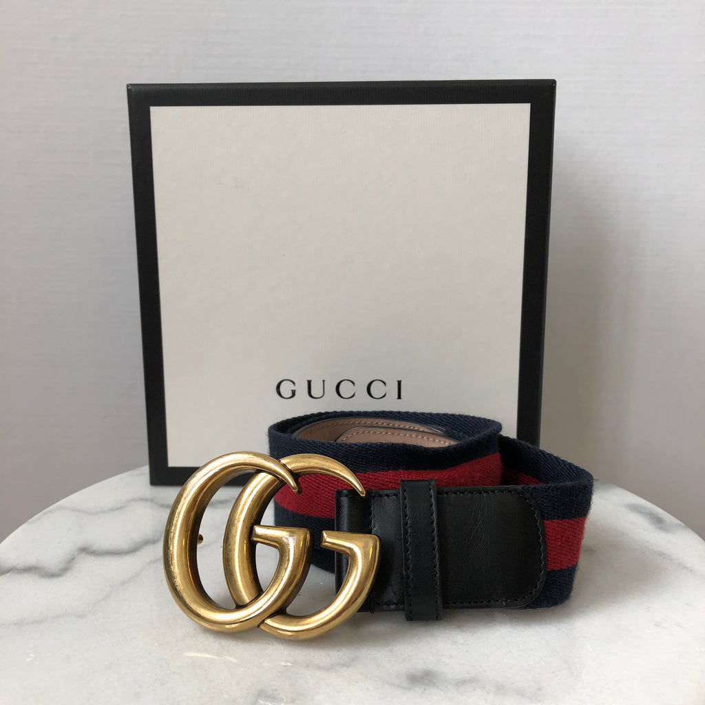 60db1963d30 Gucci Nylon Web belt with Double G buckle