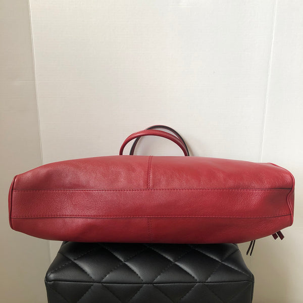 GUCCI Red Calfskin Large Re(Belle) Top Handle Bag