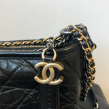 CHANEL Black Calfskin Quilted Small Gabrielle Hobo Bag