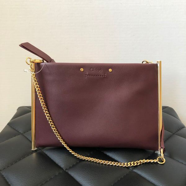 Chloe Burgundy Small Crossbody Bag