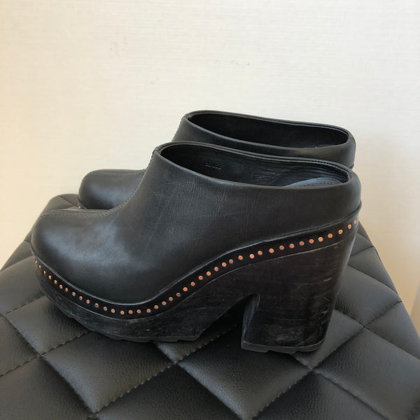 Rag & Bone Black Slip On Platforms Size 38