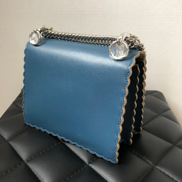 Fendi Blue KAN I Small Crossbody Bag