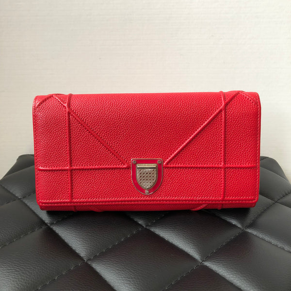 Dior Diorama Red Wallet on Chain