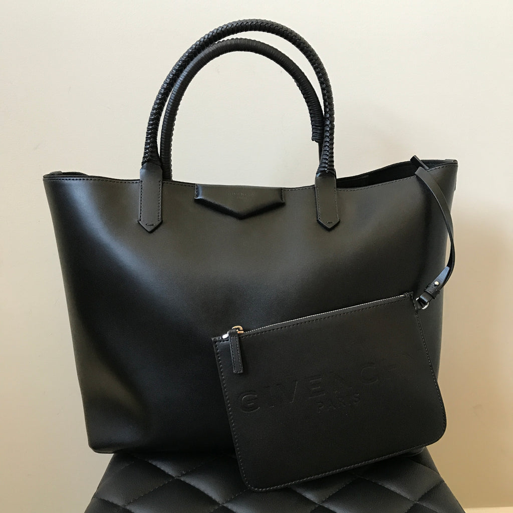 Givenchy Black Antigona Whipstitch-Handle Tote Bag   Forever Red Soles befc8a3603