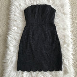 Diane von Furstenberg Black Walker Lace Strapless Dress Size 0