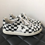 Dior Women's Black/Off White Checker Printed Sneakers Size 37.5
