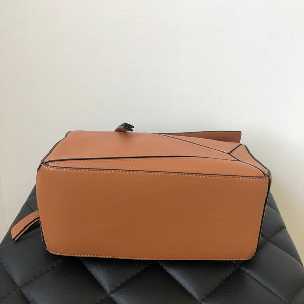 LOEWE Small Tan Puzzle Crossbody Bag