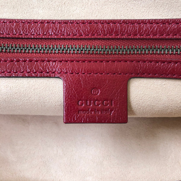 Gucci Red Medium Re(Belle) Leather Top Handle Shoulder Bag