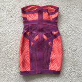 Hervé Leger Geometric jacquard bandage dress Size Small
