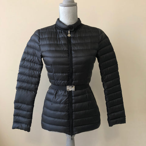 Moncler Black Damas Quilted Down Jacket Size 00 (fits US 0)
