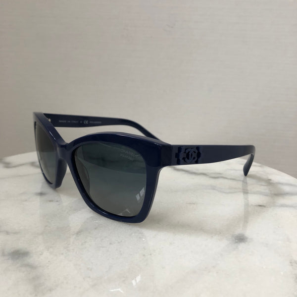 Chanel Blue Polarized Sunglasses