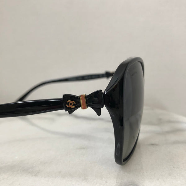 Chanel Black Bow Polarized Sunglasses