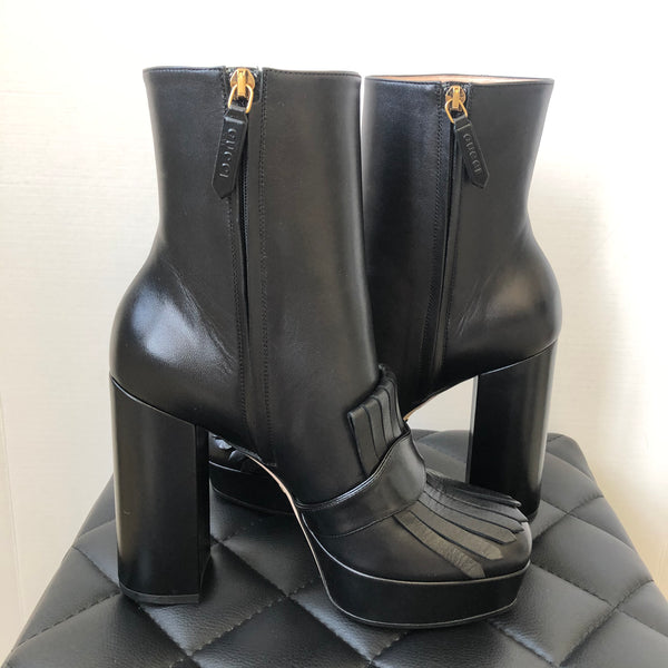 Gucci Black Marmont Boots Size 39
