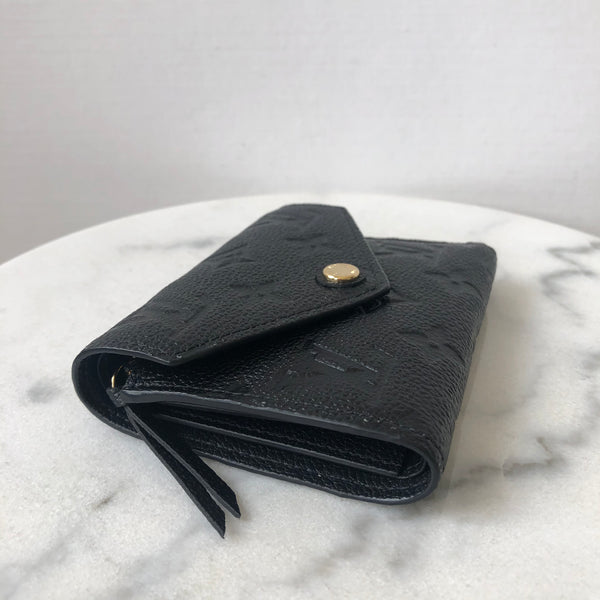 Louis Vuitton Black Monogram Empreinte Leather Victorine Wallet