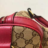 Gucci Monogram Red Boston Crossbody/Shoulder Bag