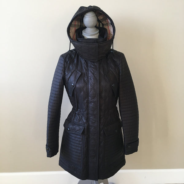 Burberry Brit Black Bosworth Quilted Jacket Size Small