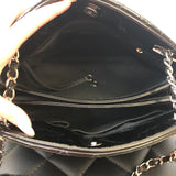 Chanel Black Quilted Patent Leather Just Mademoiselle Bowling Shoulder Bag
