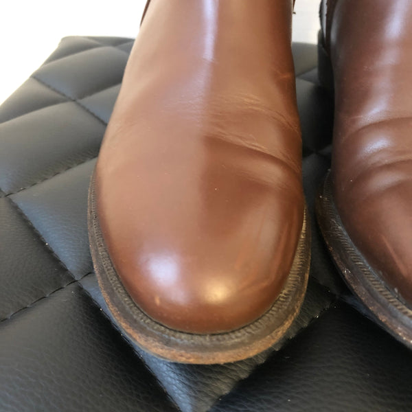 Burberry Brown Adelaide Riding Boots Size 36.5