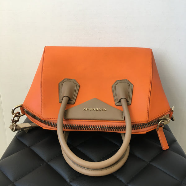 Givenchy Small Orange/Taupe Antigona