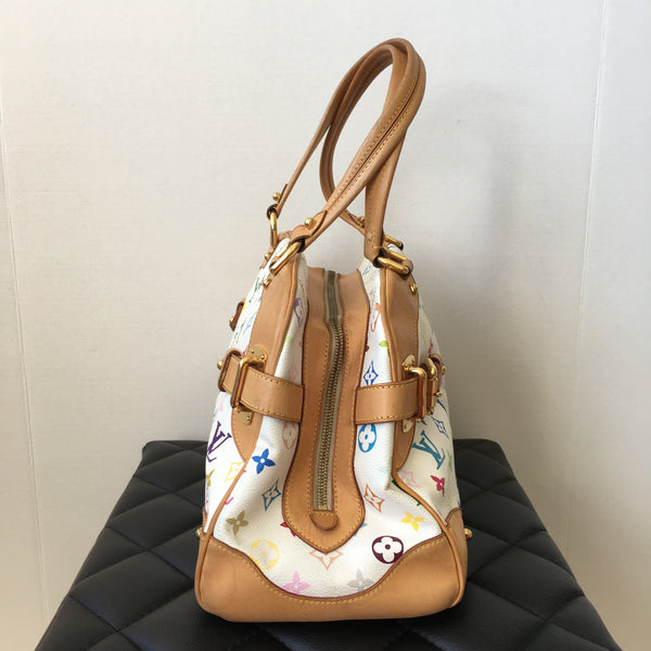 Louis Vuitton White Monogram Multicolor Claudia Shoulder Bag